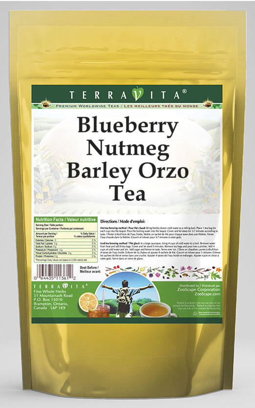 Blueberry Nutmeg Barley Orzo Tea