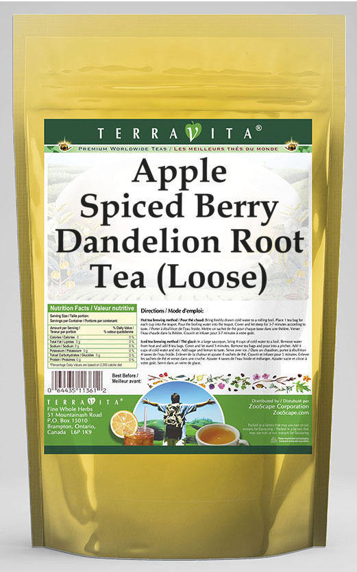 Apple Spiced Berry Dandelion Root Tea (Loose)