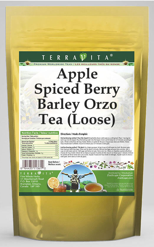 Apple Spiced Berry Barley Orzo Tea (Loose)