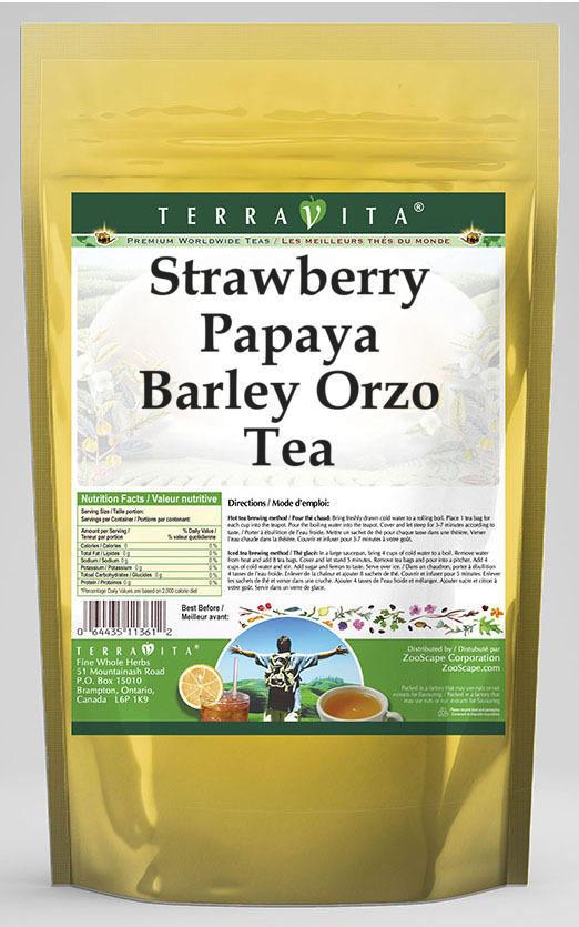 Strawberry Papaya Barley Orzo Tea