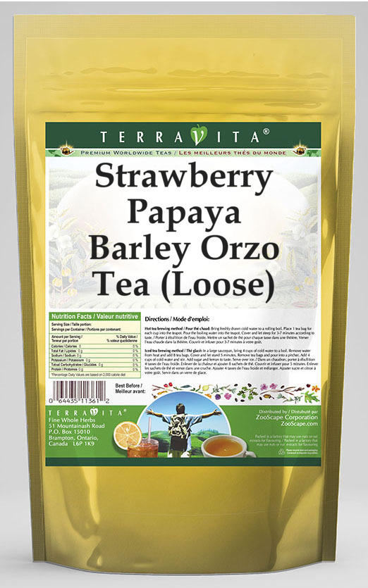 Strawberry Papaya Barley Orzo Tea (Loose)