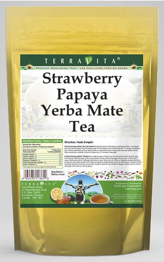 Strawberry Papaya Yerba Mate Tea