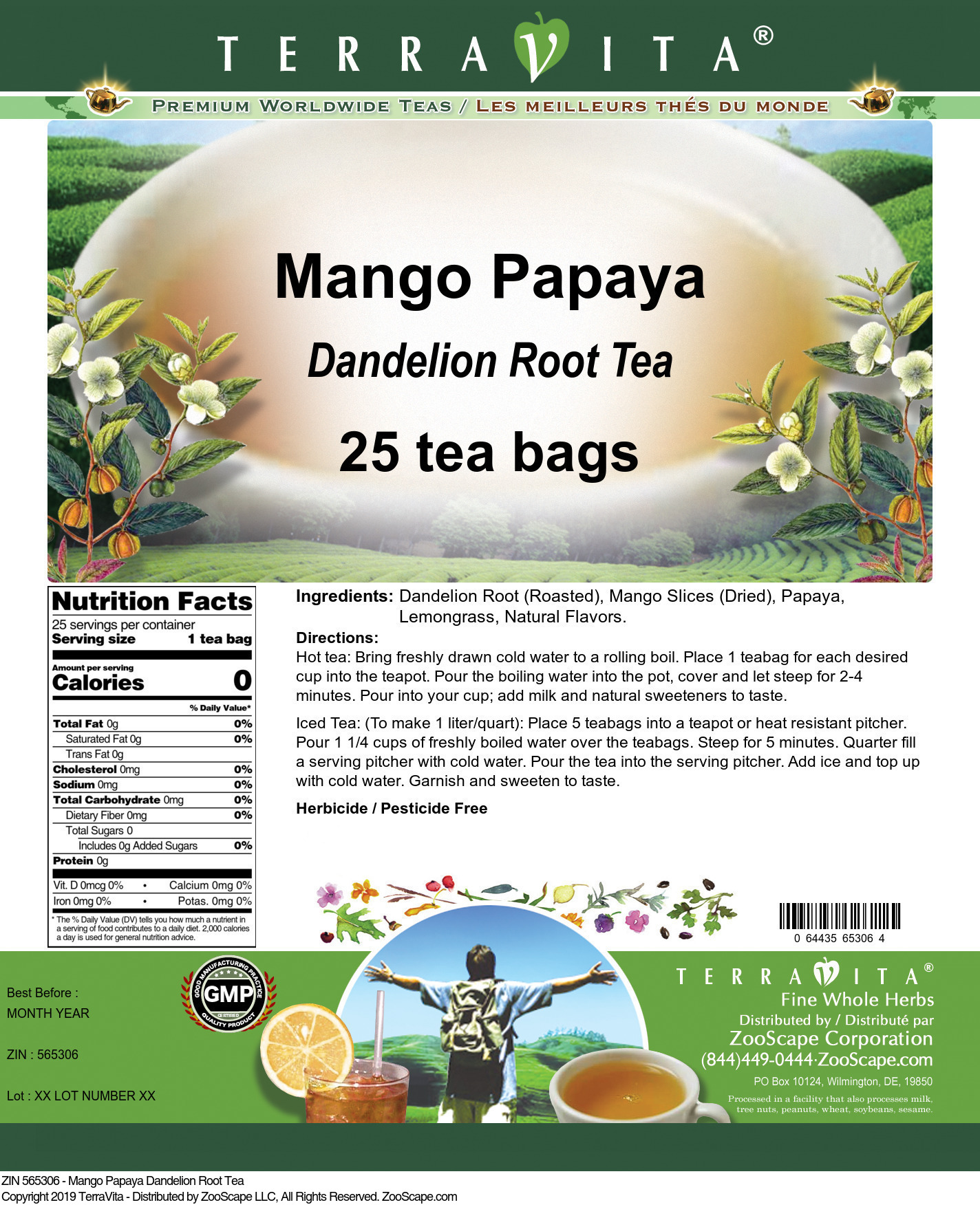 Mango Papaya Dandelion Root Tea
