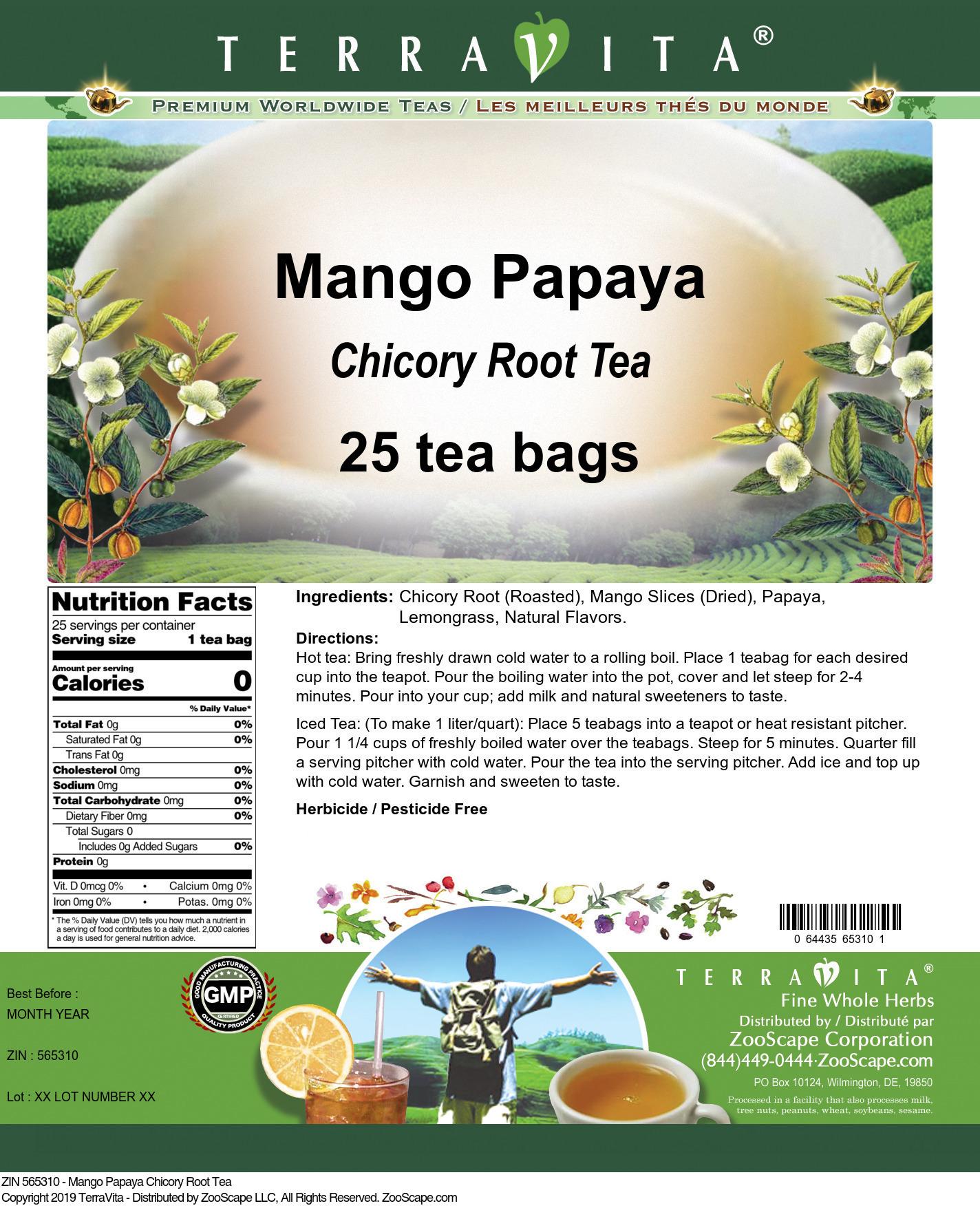 Mango Papaya Chicory Root Tea