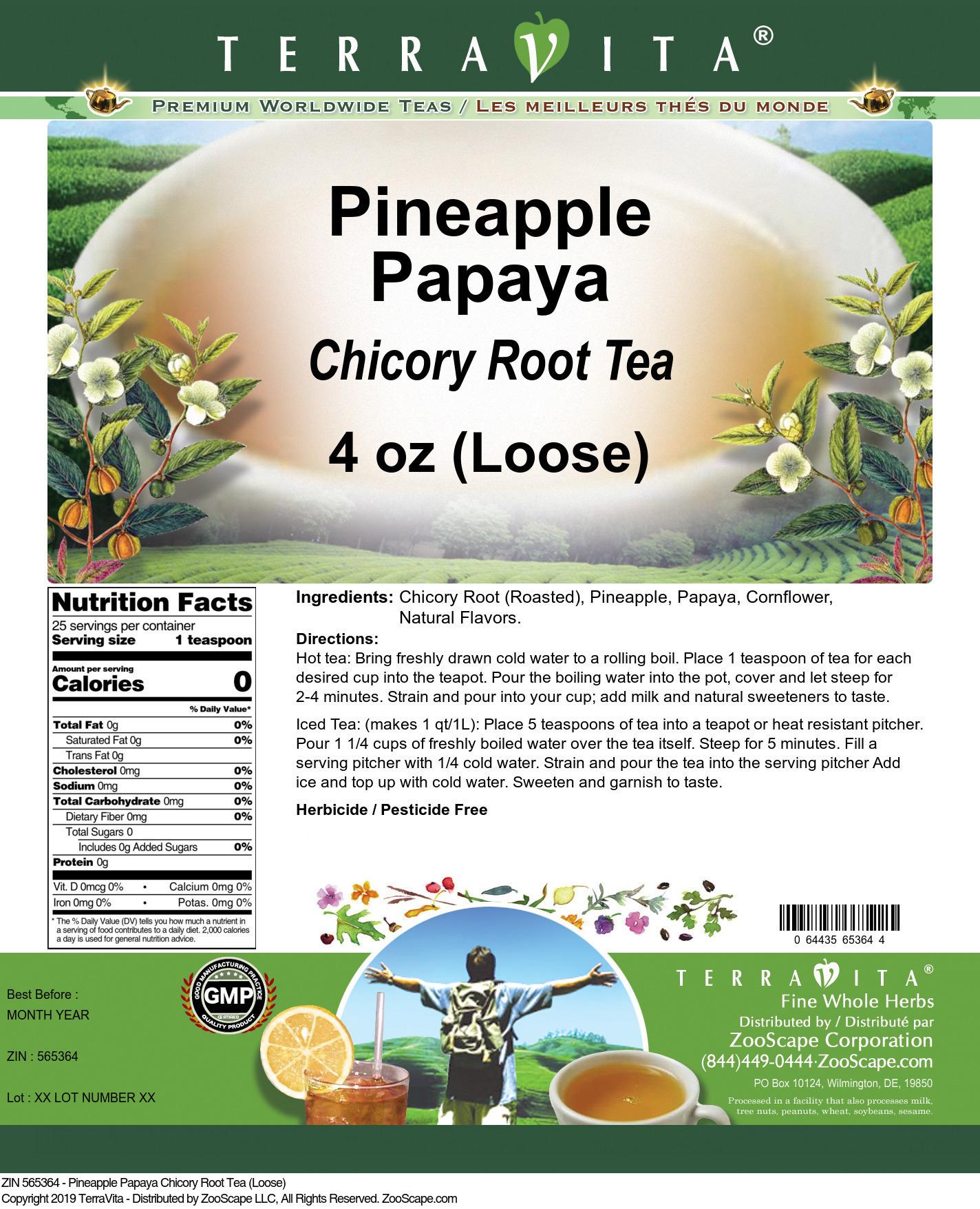 Pineapple Papaya Chicory Root Tea (Loose)