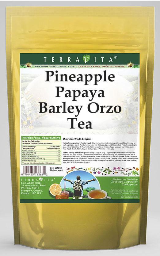 Pineapple Papaya Barley Orzo Tea