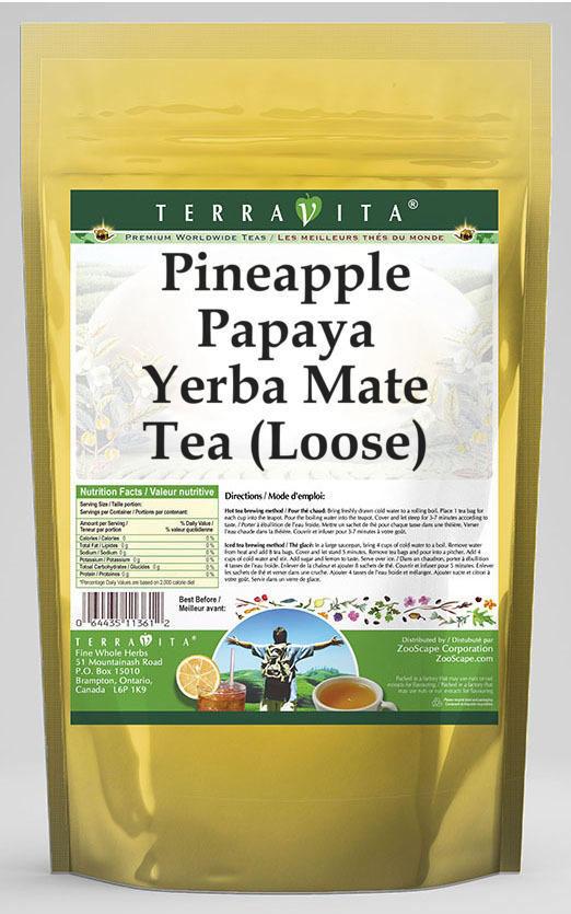 Pineapple Papaya Yerba Mate Tea (Loose)