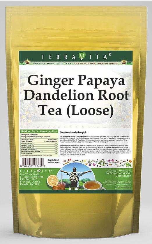 Ginger Papaya Dandelion Root Tea (Loose)