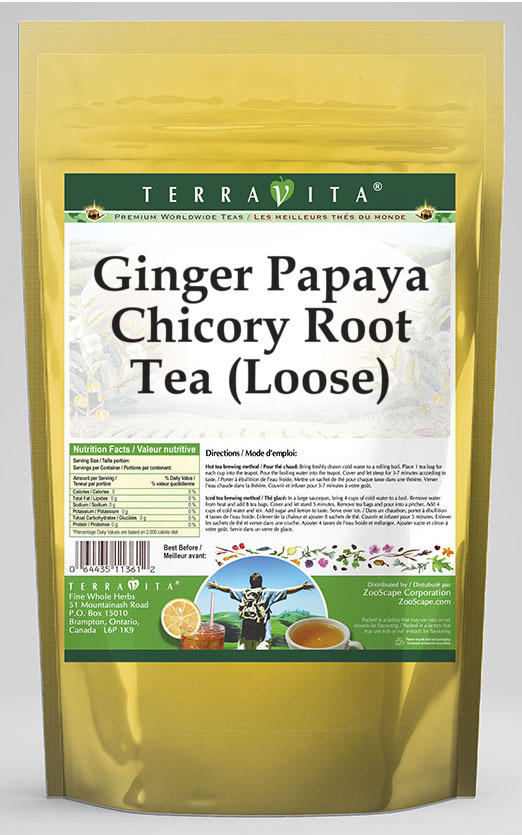 Ginger Papaya Chicory Root Tea (Loose)