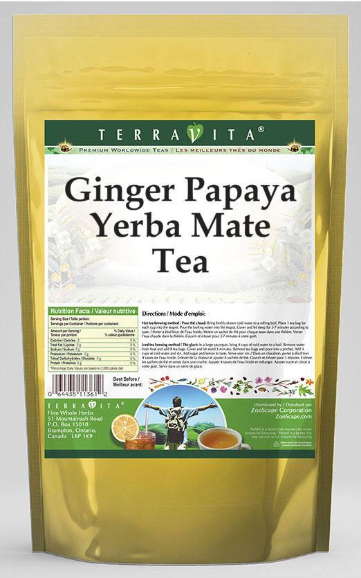 Ginger Papaya Yerba Mate Tea