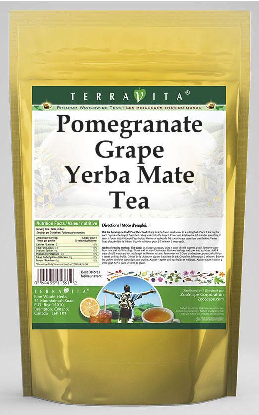 Pomegranate Grape Yerba Mate Tea