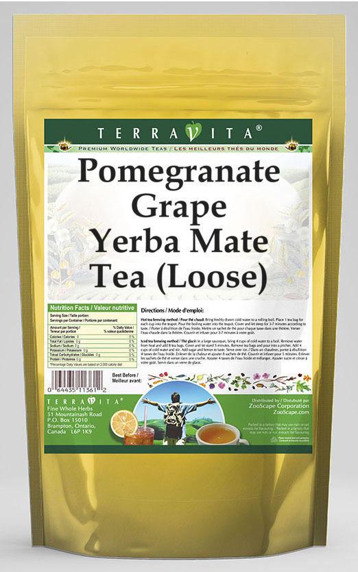 Pomegranate Grape Yerba Mate Tea (Loose)