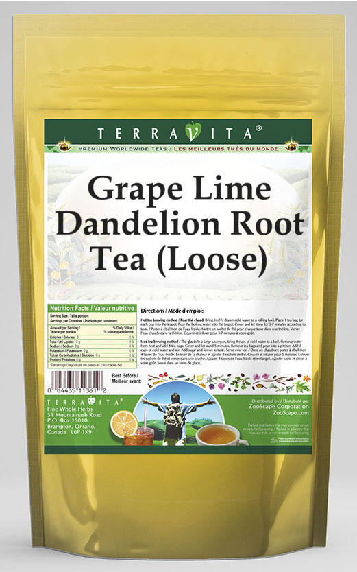 Grape Lime Dandelion Root Tea (Loose)
