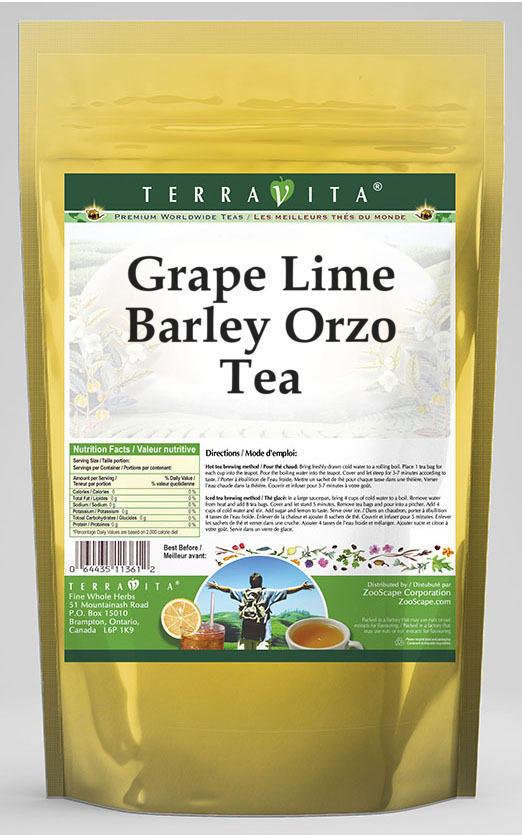 Grape Lime Barley Orzo Tea