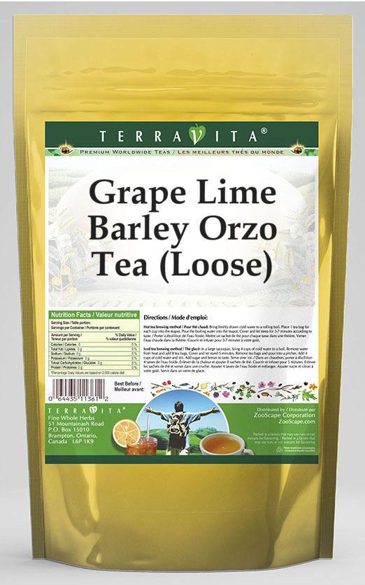 Grape Lime Barley Orzo Tea (Loose)