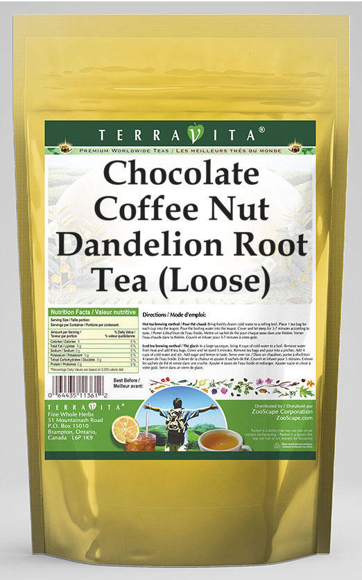 Chocolate Coffee Nut Dandelion Root Tea (Loose)