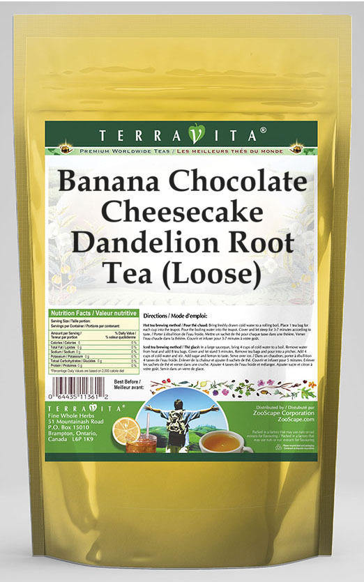 Banana Chocolate Cheesecake Dandelion Root Tea (Loose)