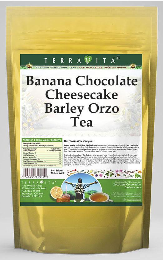 Banana Chocolate Cheesecake Barley Orzo Tea