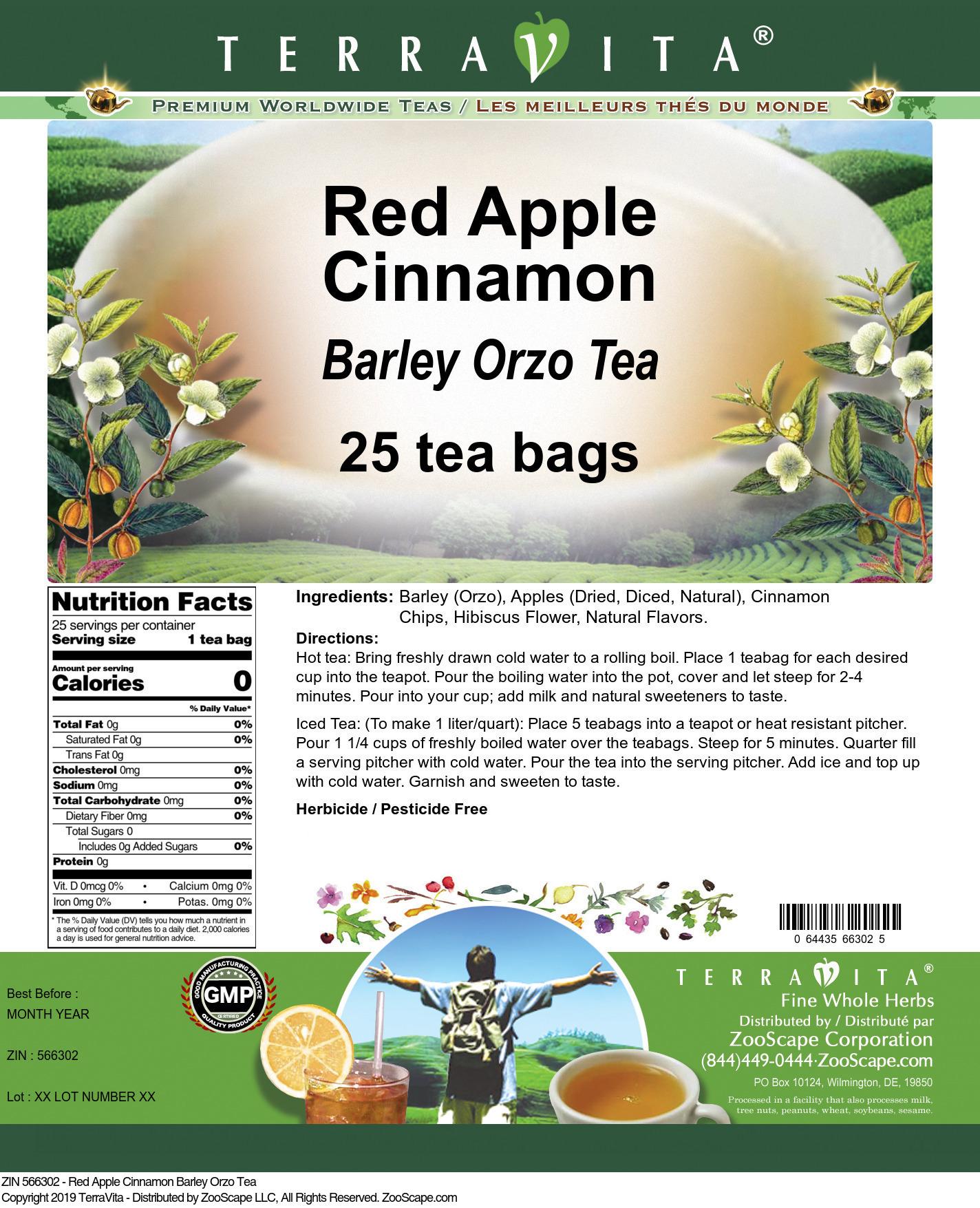 Red Apple Cinnamon Barley Orzo Tea