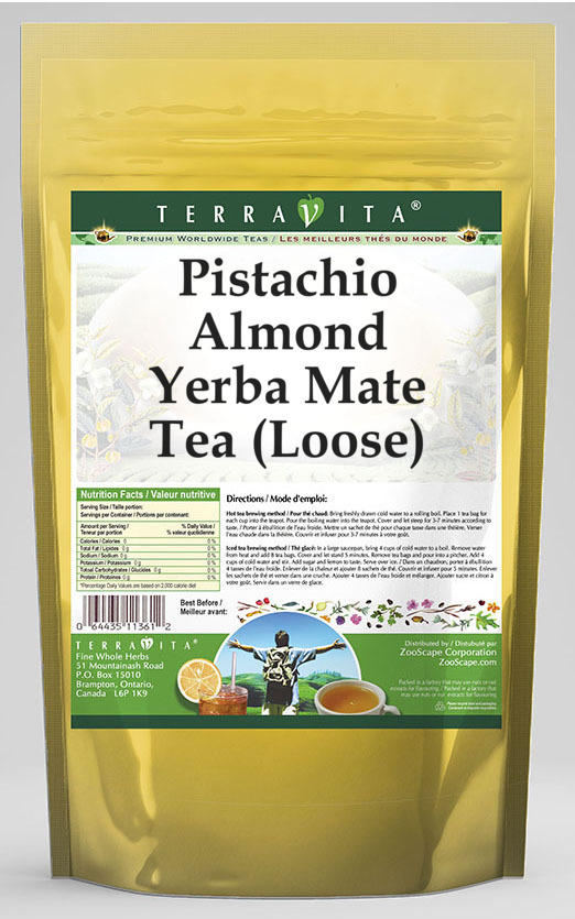 Pistachio Almond Yerba Mate Tea (Loose)