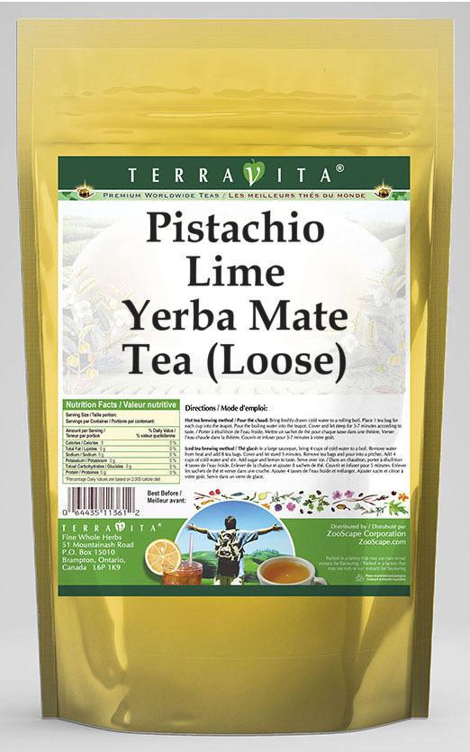 Pistachio Lime Yerba Mate Tea (Loose)