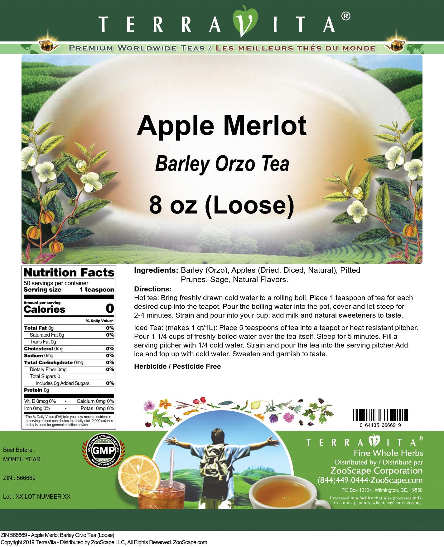 Apple Merlot Barley Orzo