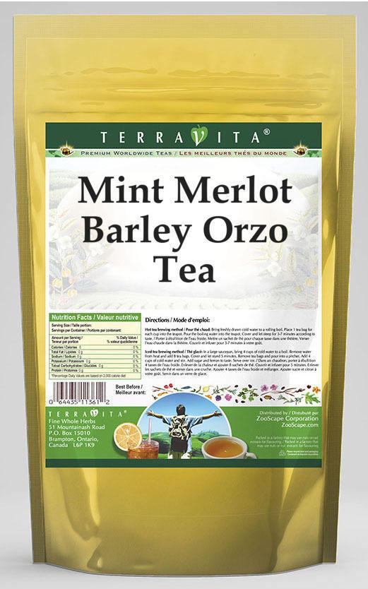 Mint Merlot Barley Orzo Tea