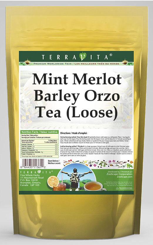 Mint Merlot Barley Orzo Tea (Loose)
