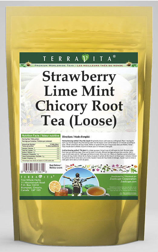 Strawberry Lime Mint Chicory Root Tea (Loose)