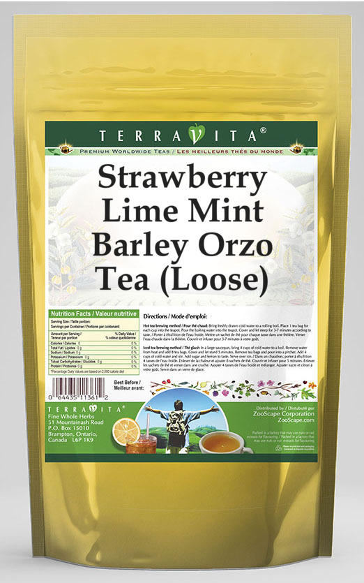 Strawberry Lime Mint Barley Orzo Tea (Loose)