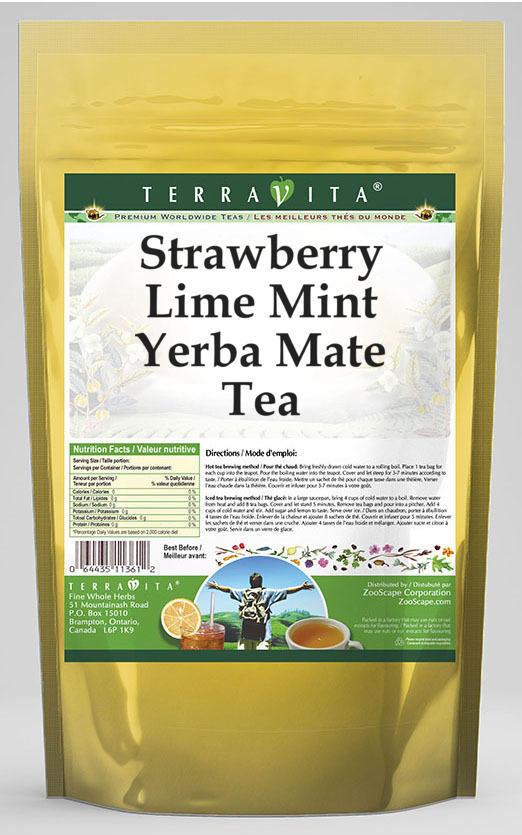 Strawberry Lime Mint Yerba Mate Tea