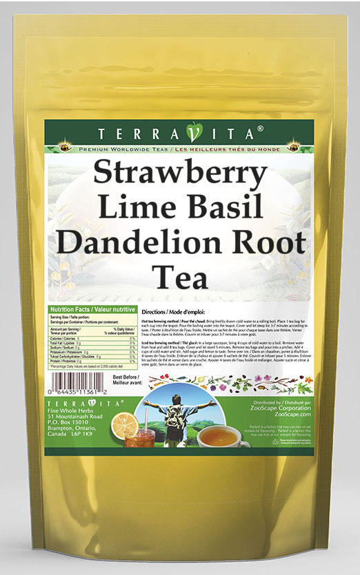 Strawberry Lime Basil Dandelion Root Tea
