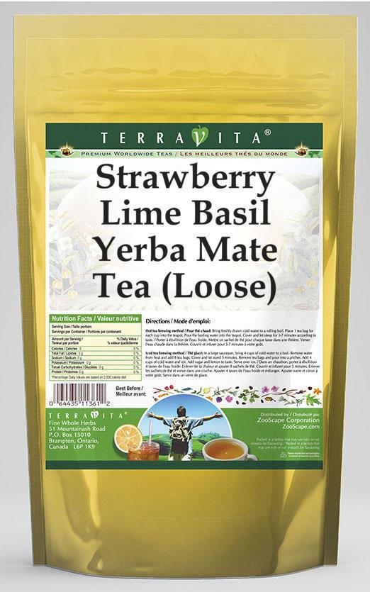 Strawberry Lime Basil Yerba Mate Tea (Loose)