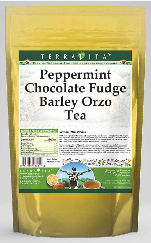 Peppermint Chocolate Fudge Barley Orzo Tea
