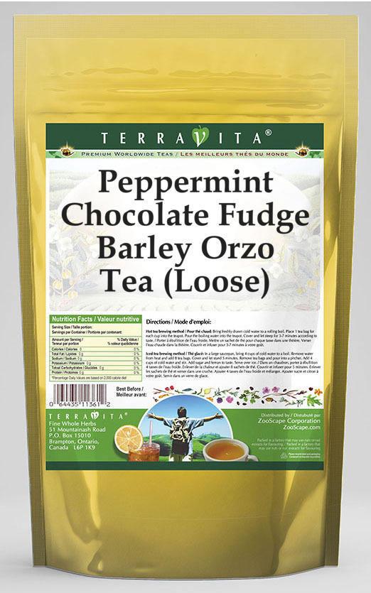 Peppermint Chocolate Fudge Barley Orzo Tea (Loose)