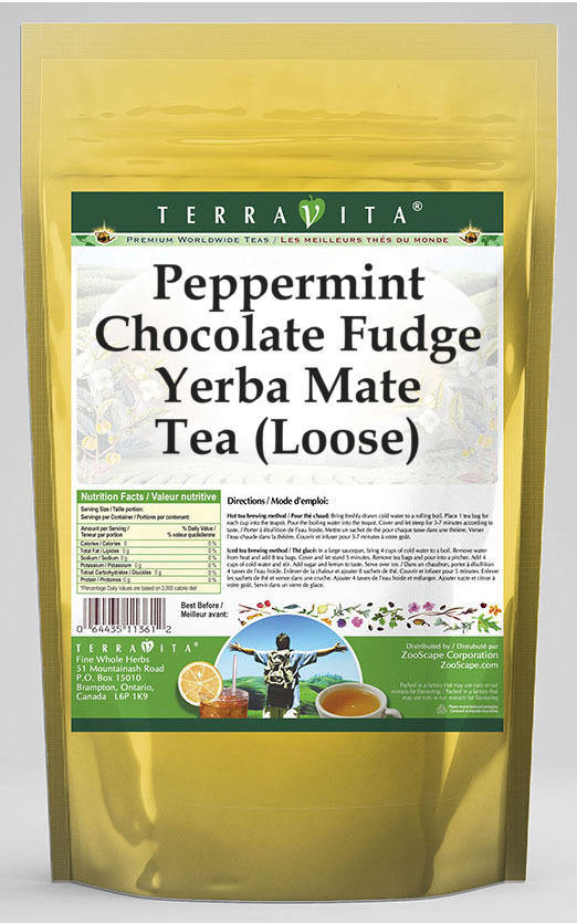 Peppermint Chocolate Fudge Yerba Mate Tea (Loose)