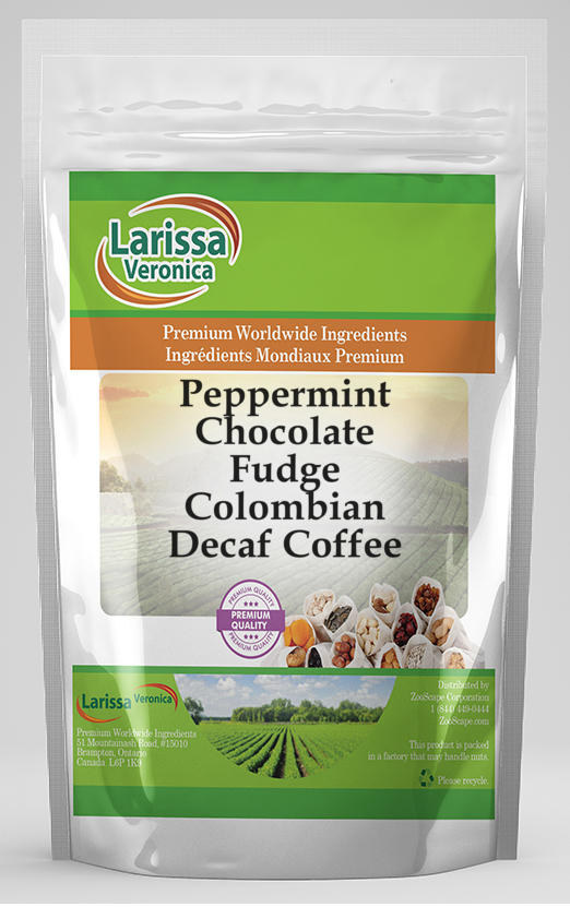 Peppermint Chocolate Fudge Colombian Decaf Coffee