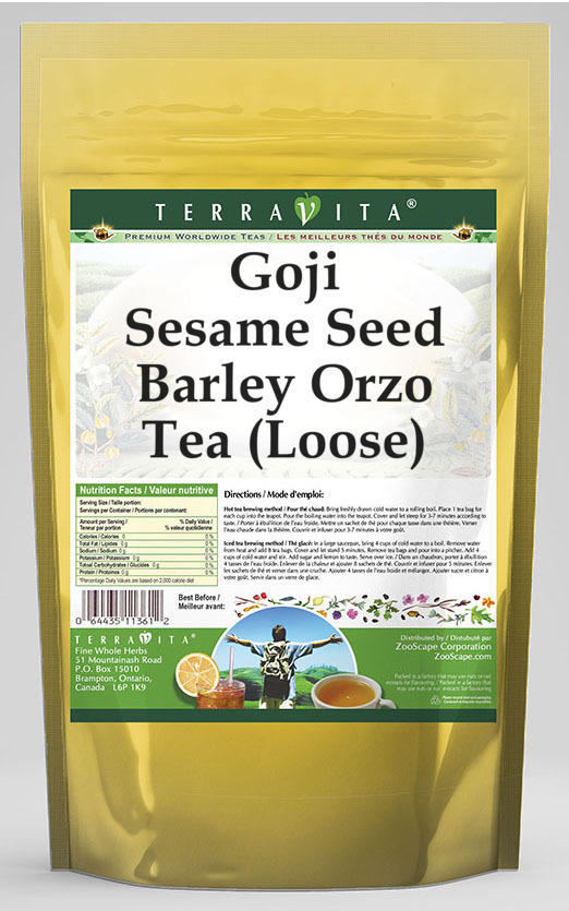 Goji Sesame Seed Barley Orzo Tea (Loose)