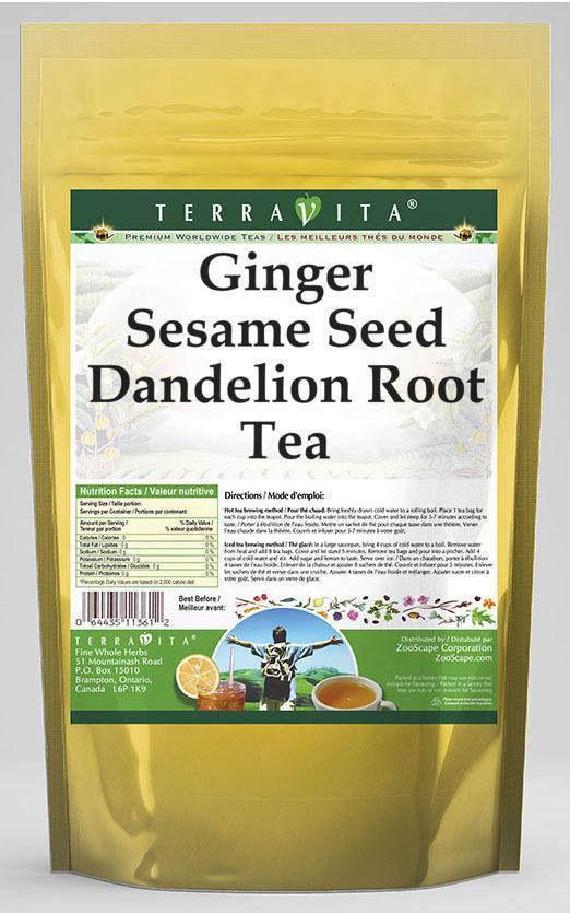 Ginger Sesame Seed Dandelion Root Tea