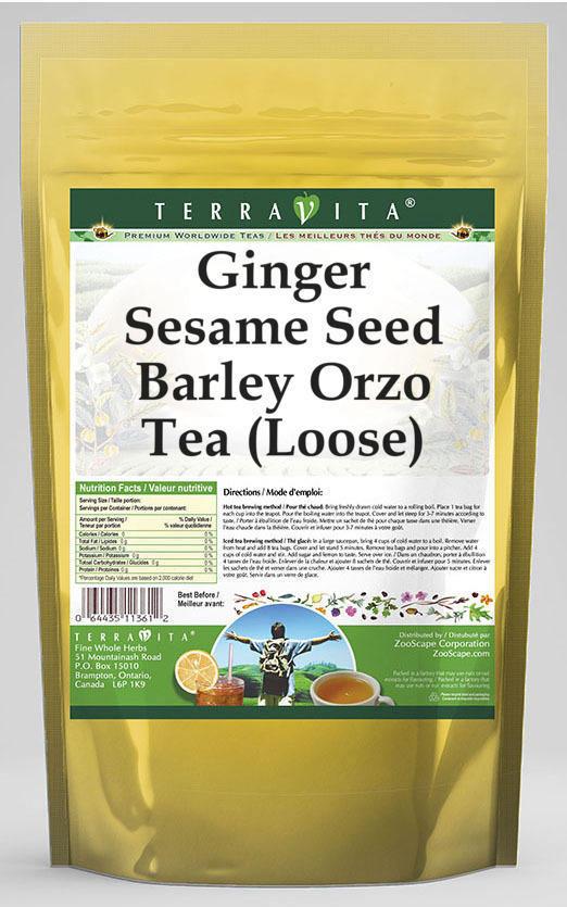 Ginger Sesame Seed Barley Orzo Tea (Loose)