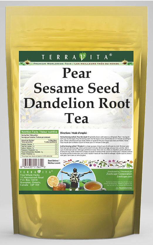 Pear Sesame Seed Dandelion Root Tea