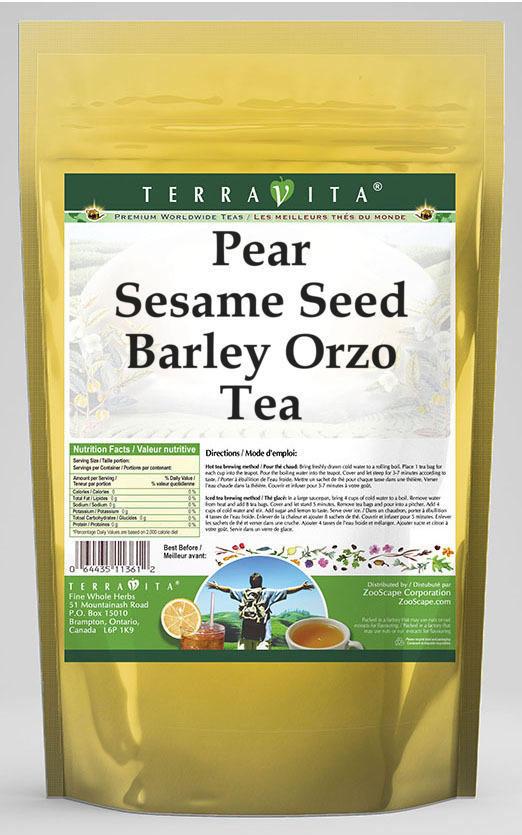 Pear Sesame Seed Barley Orzo Tea
