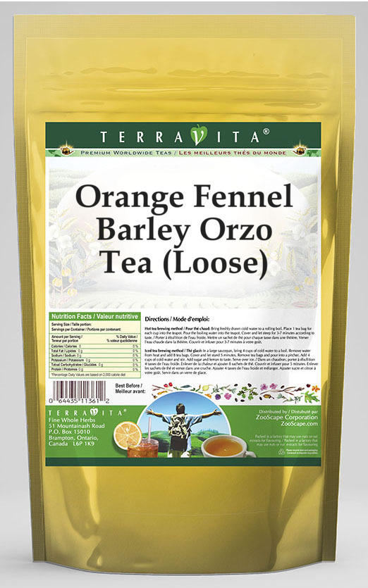 Orange Fennel Barley Orzo Tea (Loose)