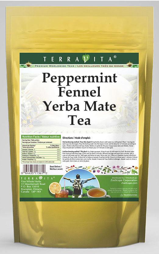 Peppermint Fennel Yerba Mate Tea