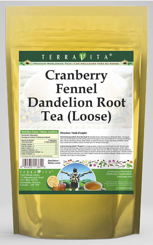 Cranberry Fennel Dandelion Root Tea (Loose)