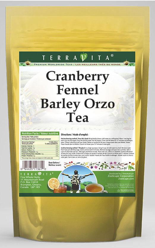 Cranberry Fennel Barley Orzo Tea