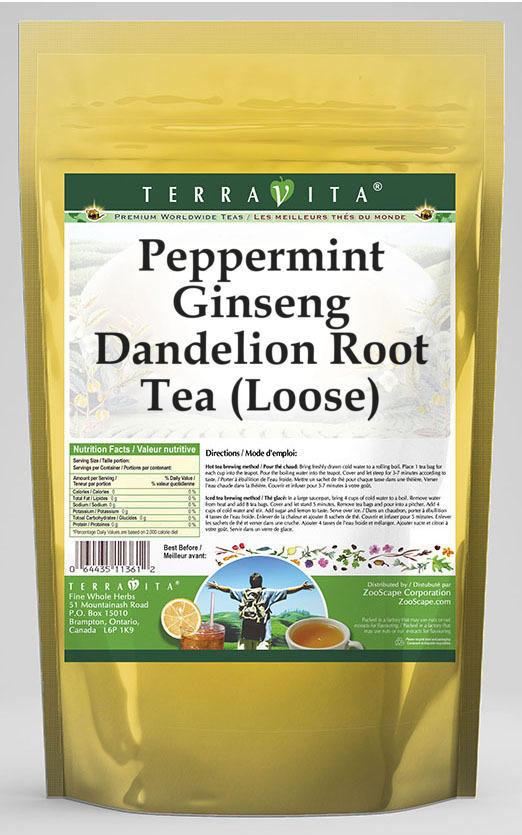 Peppermint Ginseng Dandelion Root Tea (Loose)