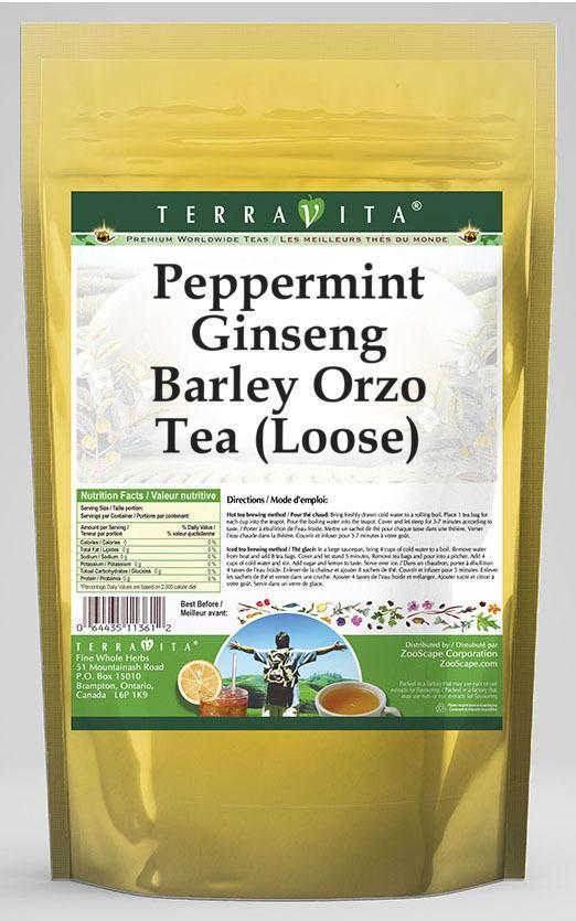 Peppermint Ginseng Barley Orzo Tea (Loose)