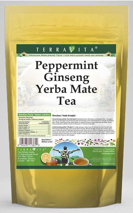 Peppermint Ginseng Yerba Mate Tea