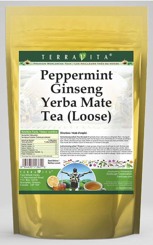 Peppermint Ginseng Yerba Mate Tea (Loose)